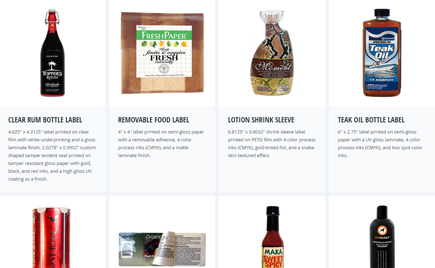 Custom Food Label Samples