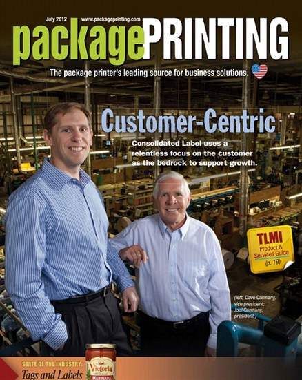 Consolidated Label on Package Printing magazine