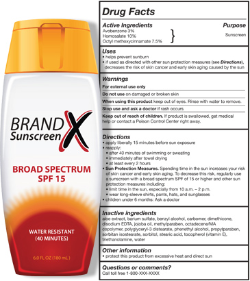 Sunscreen label