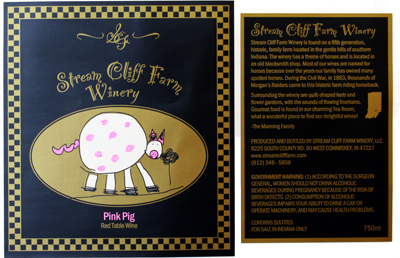 label and packaging for the wine industry