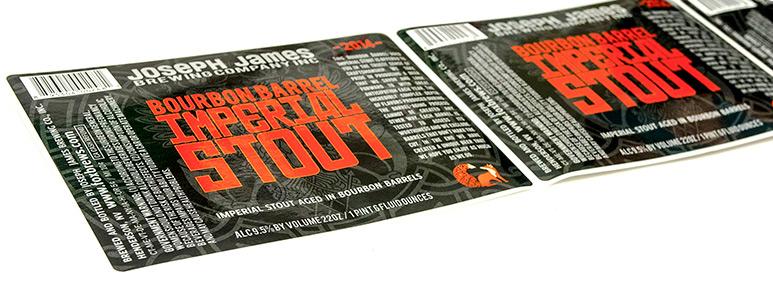 Custom craft beer bottle label