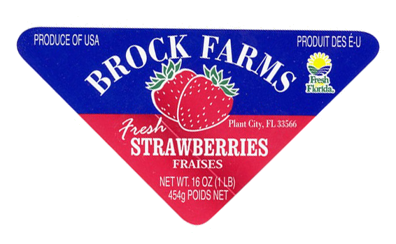 Strawberry food label