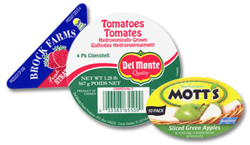 Fruit and produce sticker labels