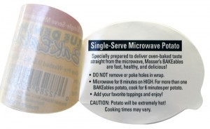 Multi-layer label for food product
