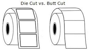 butt cut and die cut labels