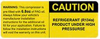 yellow caution label