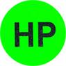 round neon green sticker