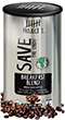 metallic coffee label