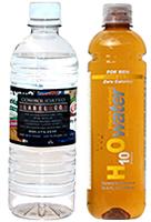 metallic water bottle labels