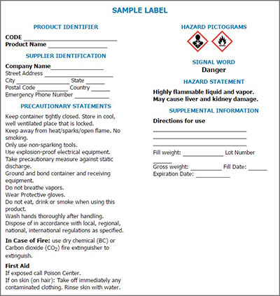 new-label-OSHA-GHS-requirements