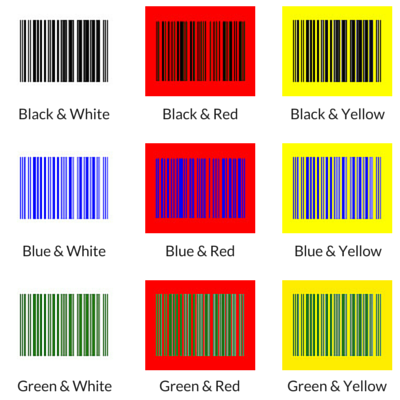Barcode Colors That Work