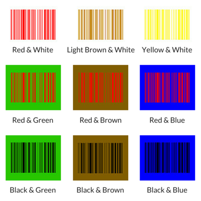 Barcode Colors That Don't Work