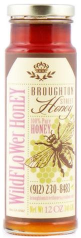 Pressure Sensitive Label on Honey Jar