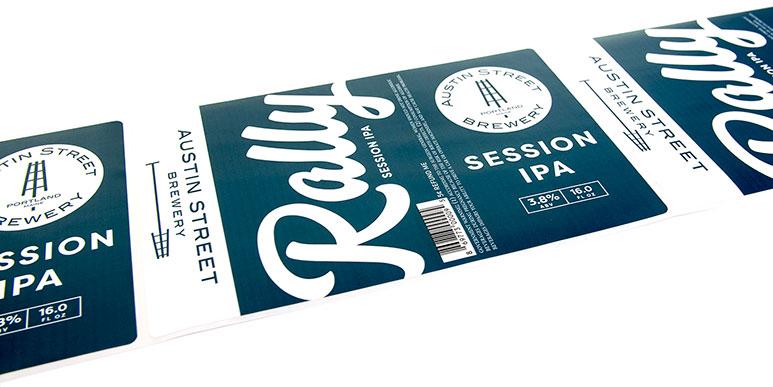 Custom craft beer label