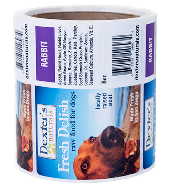 Custom dog food roll label