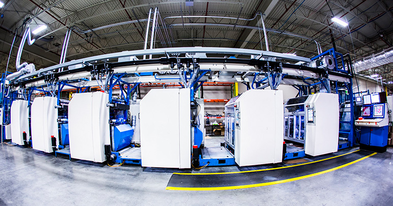 """New 34"""" wide flexographic press dedicated to shrink sleeves and flexible packets."""