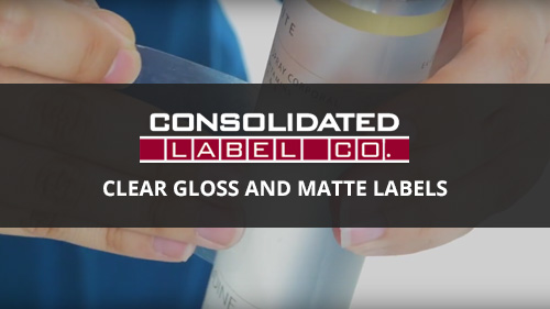 clear gloss and matte labels video