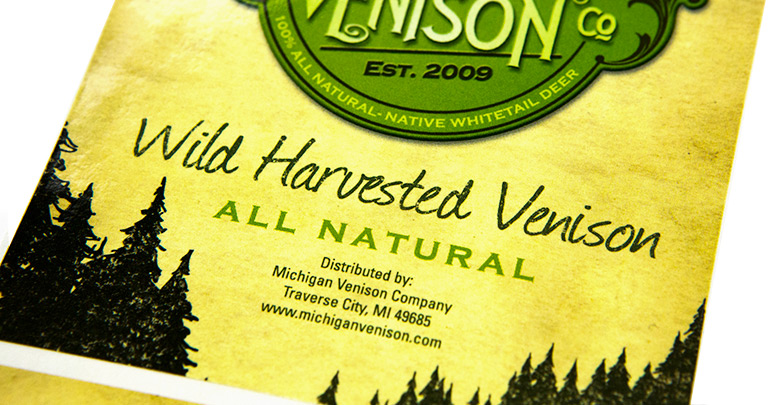 Photo of custom food label for a natural seasoning product.