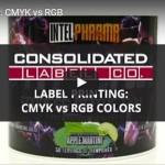Still shot of Label Printing: CMYK vs RGB video