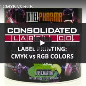 Still shot of Label Printing: CMYK vs RGB video