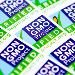 Non-gmo labels printed by Consolidated Label