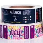 E-juice label rolls