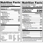 Old and new Nutrition Facts label