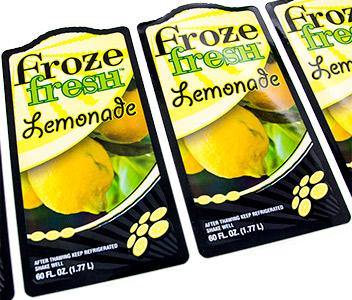 Frozen lemonade labels