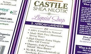 Purple soap labels