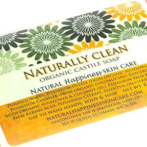 Organic soap label