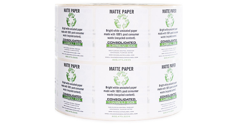 Roll of eco-friendly labels