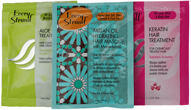 Flexible packaging for hair products