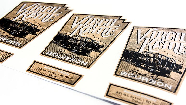 Bourbon brown kraft labels