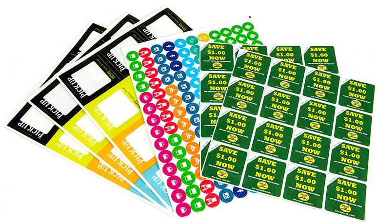 Custom printed label sheets