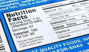 Nutrition Facts on food label