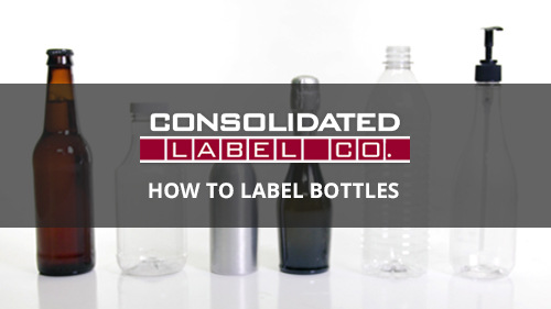 Various bottles for applying custom labels