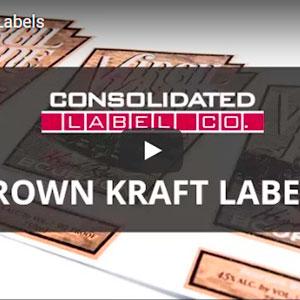 Brown kraft labels