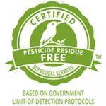 certified pesticide residue free food label symbol