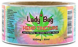 Cannabis label roll
