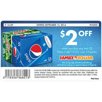Soda Coupon Label