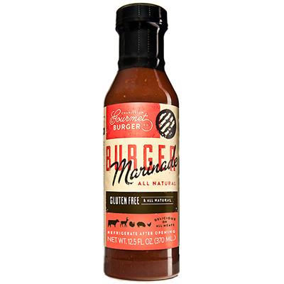 Burger Marinade Bottle Label