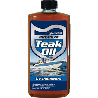 Teak Oil Bottle Label