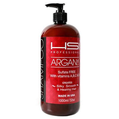 Argan Shampoo Label
