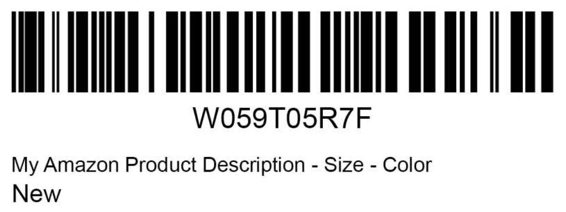 Amazon FNSKU barcode