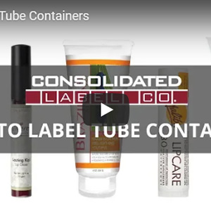 Tube container label tips video thumbnail