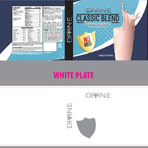 White plate example