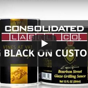 Printing black on custom labels video