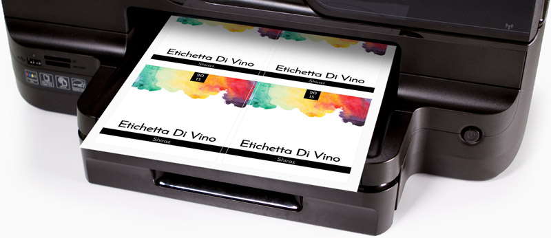 Printing your own labels example