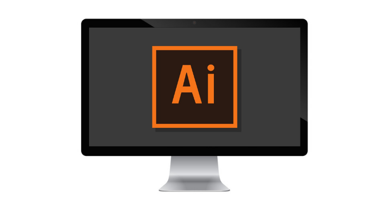 Adobe Illustrator on computer