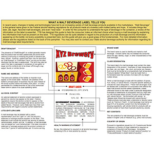 Beer labeling regulations